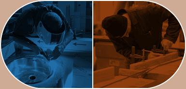 Reparto Lavorazione acciaio e Falegnameria Fedeli Commerciale
